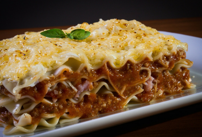 chicken lasagna with gravy